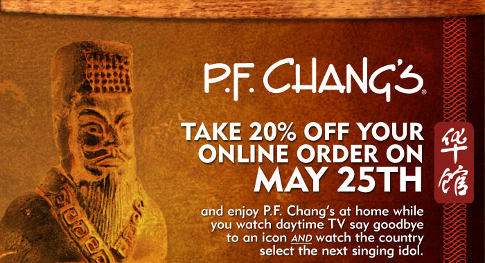 Enjoy 20% OFF on May 25
